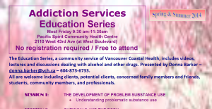Addiction Services Education Series 2014