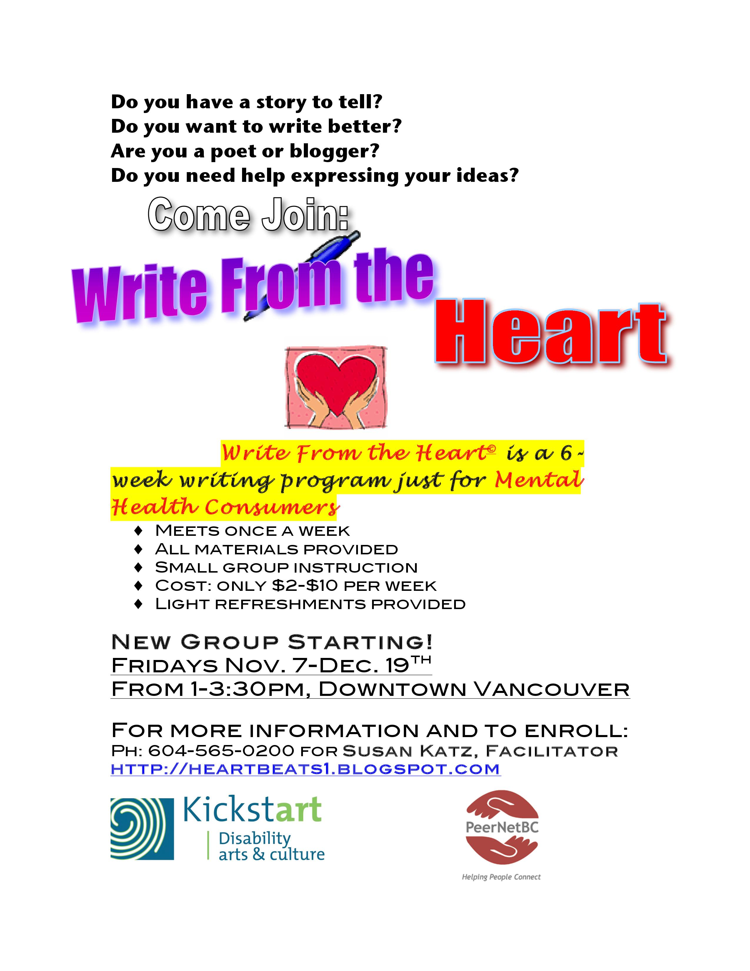 Write from the Heart - poster